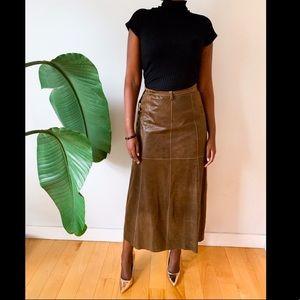 Dresses & Skirts - Vintage Leather Skirt